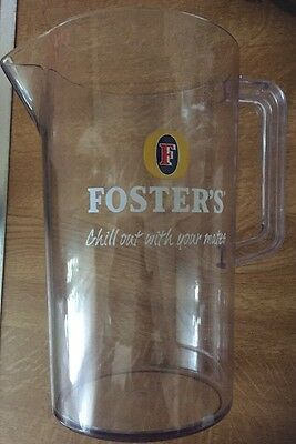 Fosters Plastic Jug Pitcher 4 Pints (Pub Bar Club Man Cave)
