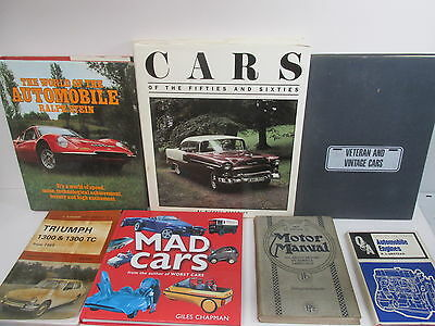 Car themed collection x 28 titles, books, journals etc, modern, old, job lot