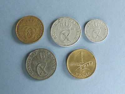 Denmark Collection of 5 Coins (L3-22)