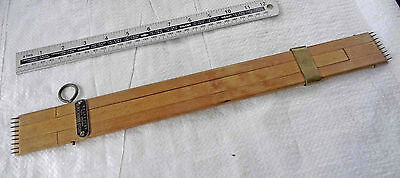 Vintage Beech Stretching Tool by DRYAD of Leicester Weaving Tapestry Old Tool