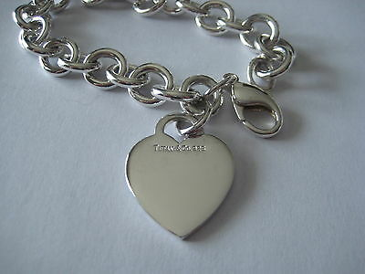 "Authentic Tiffany & Co. Heart Tag Bracelet - 7"" - JUST POLISHED"