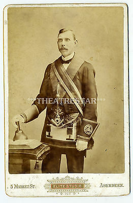RP ABERDEEN Freemason OFFICIAL Bell BY ELITE STUDIO Social History CABINET CARD
