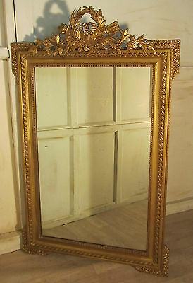 A Spectacular Large French Shabby Gilt Wall Mirror