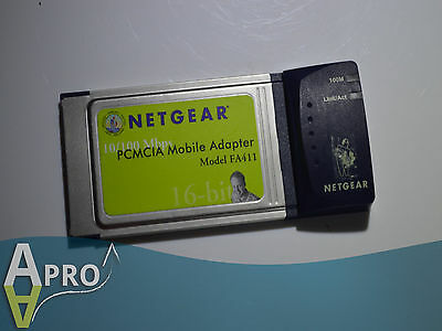 Netgear Fa-411 10/100 Fast 16 Bit Laptop Pcmcia Card - Uk Seller