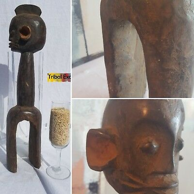 SPECTACULAR Waja Shoulder Micro Mask Figure Statue Sculpture Fine African Art