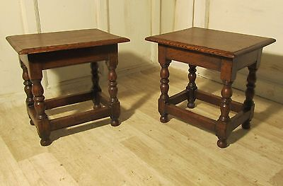 A Pair of Ipswich Oak Joint or Coffin Stools
