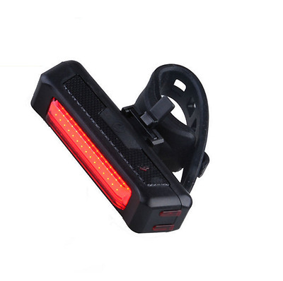 Red Light USB Rechargeable New Bike Bicycle Tail Light Safety Back Front Rear