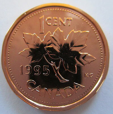 1995 Canada 1 Cent Specimen Penny Coin