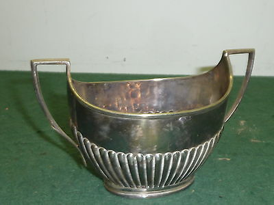 Quality Vintage WH&S 175 mm Wide Silver Plated Sugar Bowl