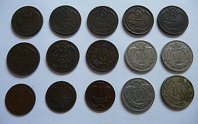 Collection of 15 late 19th & early 20th Century Austro-Hugarian Coins