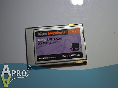 3Com Megahertz 3Cxfe574Bt 10/100 Fast 16Bit Laptop Pcmcia Card - Uk Seller