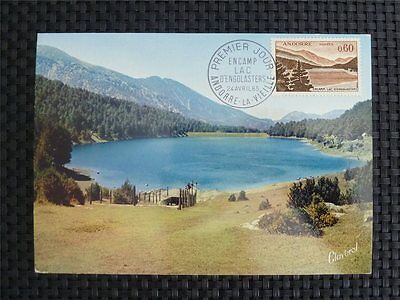 ANDORRA MK 1965 TOURISM LAKE MAXIMUMKARTE CARTE MAXIMUM CARD MC CM c813