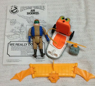 Real Ghostbusters Haunted Vehicle Air Sickness Complete w/ Figure & Instructions