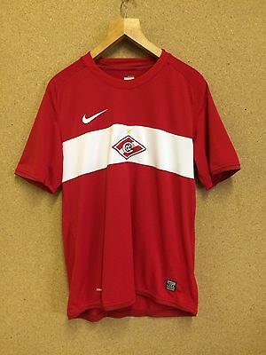 Russia Spartak Moscow Football Shirt Jersey Nike Red Sz Medium / M Adult
