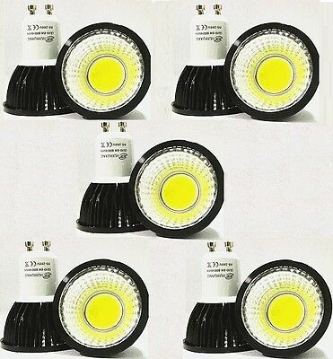 GU10 6W Warm WHite DIMMABLE CREE COB LED spot Light Bulb Downlight lamps Black