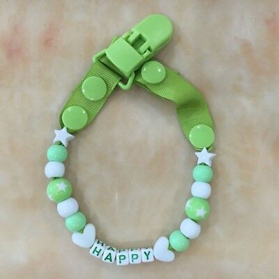 Newly Baby Pacifier Chain Infant Boys Girls Dummy Soother Nipple Clip Holder 1PC
