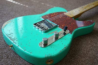Fender Esquire W/ American Cs Nocaster Pickup Relic'd Surf Green Telecaster