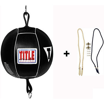 "Title Boxing Classic 5"" Leather Double End Bag Package"