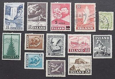 Iceland, mounted mint and used mixture