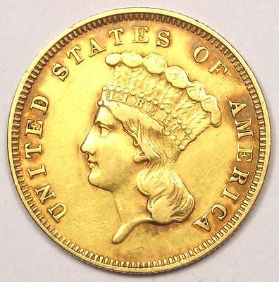 1859 Indian Three Dollar Gold Coin ($3) - XF Details (EF) - Rare Date Coin!