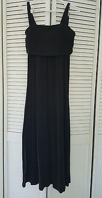 Moody Mamas Maternity/Nursing Black Maxi Dress, Size Small