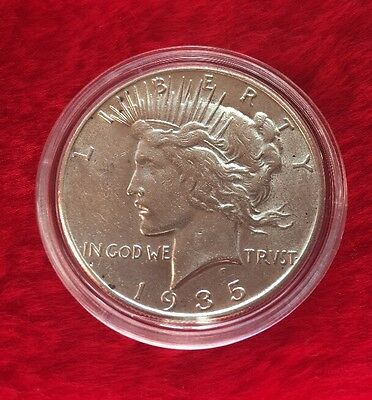 1935-S Silver Peace Dollar.  Top Condition With Key Date !!!