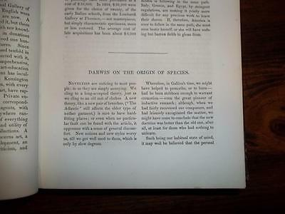 1860 Charles Darwin, On The Origin Of Species, Asa Gray Review  Atlantic Monthly