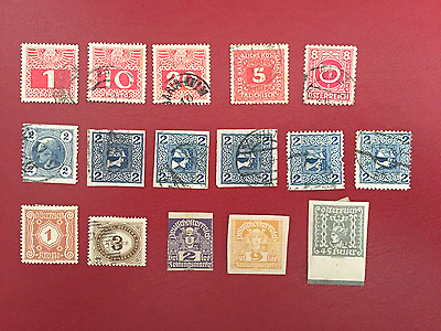 Austria -Porto Stamps- Used And Hinged
