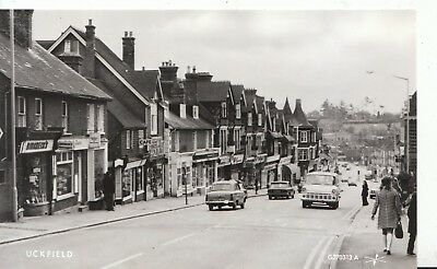 East Sussex Postcard - Uckfield - Showing Shops - Real Photo Pamlin Prints  9413
