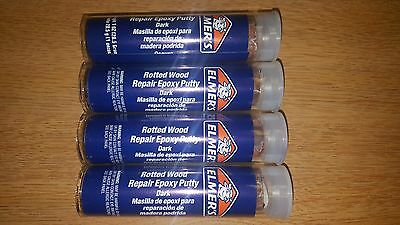 4 Oz Elmers Dark Wood Repair 2 Part Epoxy Putty Compare = Quickwood = Kwikwood