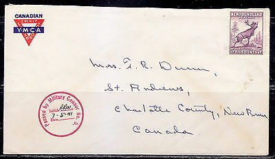 Postal History, Military Censor No. 5 Cover, Newfoundland Stamp