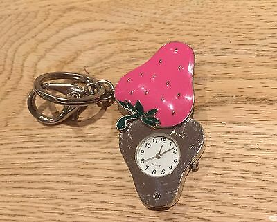 Keyring Quartz Watch Strawberry Shape