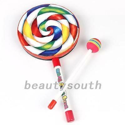 New Lollipop Shape Music Drum Musical Instruments Learning Education Toy