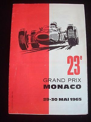 MONACO GRAND PRIX FORMULA ONE F1 Race Programme May 1965