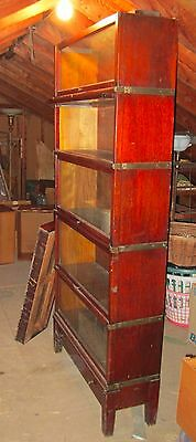 Early Globe Wernicke Five Section Bookcase   Full Size