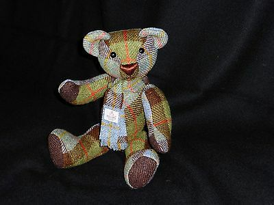 Genuine Harris Tweed Teddy Bear - Handmade - One of a Kind - Tartan