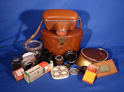 LOT of  Zeiss Ikon Leather Cases Filters Lens and Accessories #L147EW