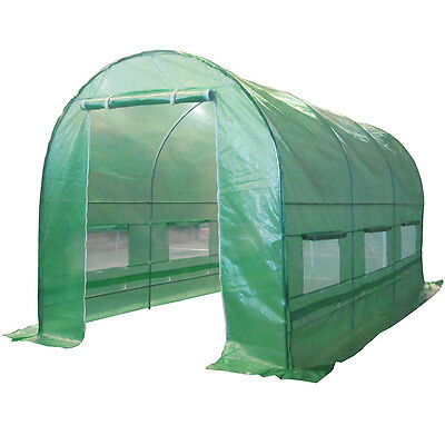 3 Sizes Fully Galvanised Steel Frame Poly Tunnel Greenhouse Polytunnel Tunnel