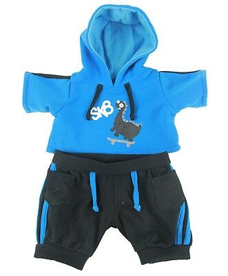 """Dino Skater Outfit hoodie jogger Teddy Bear Clothes to fit 8""""-10"""" bears / plush"""