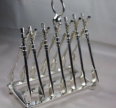 Silver Plated Oxford Cambridge Boat Race Oars Toast Rack Leter Rack