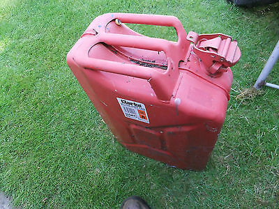 Clarke 20 litre fuel / jerry can, used. Metal army style