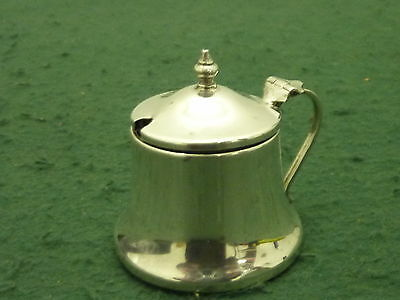 Antique HM 1916 A Davenport Solid Sterling Silver Pierced Mustard Pot & Liner