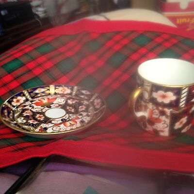 Lovely ROYAL CROWN DERBY Pattern Coffee Cup And Saucer