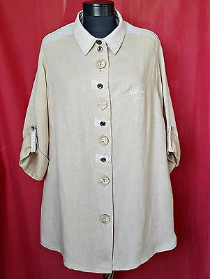 Authentic Hagro Tyrol Oktoberfest Dirndl Beige Women Blouse-Size:us22/Eu50