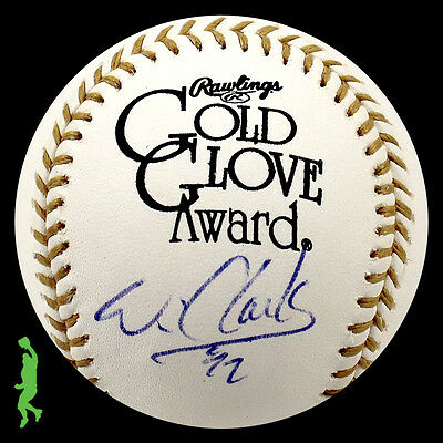 Will Clark Autographed Signed Gold Glove Award Baseball Ball Giants Psa/dna Coa