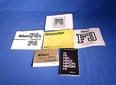 LOT of Various Nikon F Series and Camera Instruction Books. #L157EW