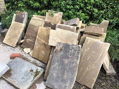 Reclaimed York Stone Approx 12 sq m