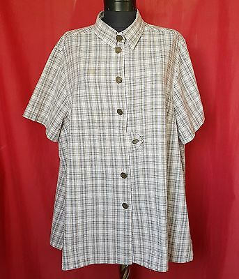 Authentic Drachten Tyrol Oktoberfest Dirndl Plaid Women's Blouse-Size:us20/Eu48