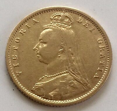 1882 Gold Half Sovereign Queen Victoria