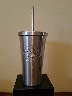 Starbucks 2014 Stainless Steel Cold Cup Insulated Tumbler 20 oz Brand New!!!